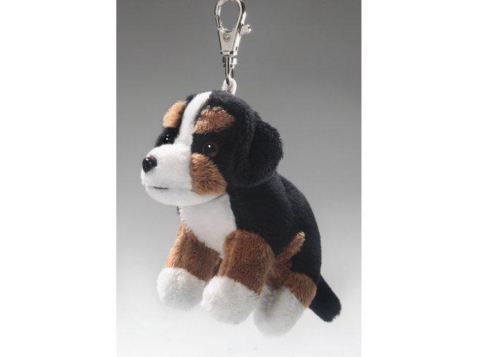 Plüss kutya - berni pásztor 10 cm - plüss játékok