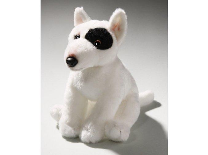 Plüss kutya - bullterrier 20 cm - plüss játékok