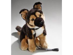 Plüss németjuhász kutya 25 cm