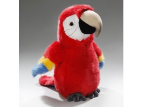 Plüss papagáj 22 cm - plüss játékok