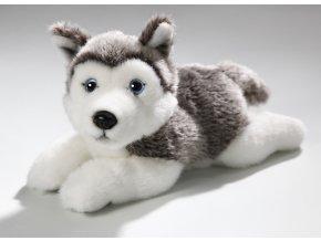 Plüss kutya - husky 23 cm