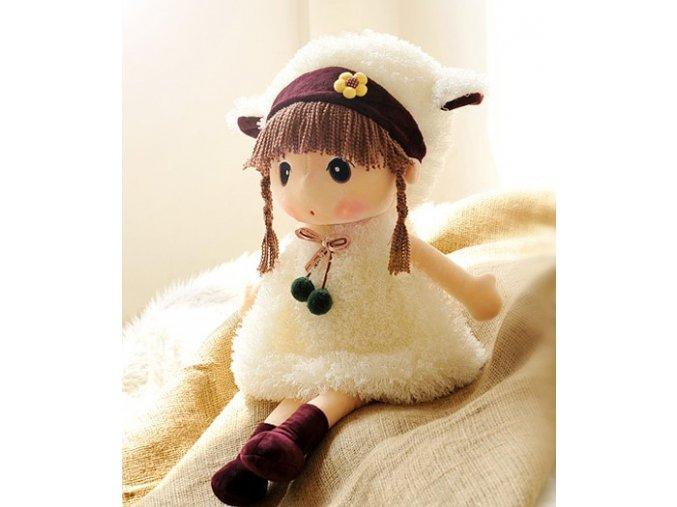 Plyšová panenka Mayfair bílá 45 cm