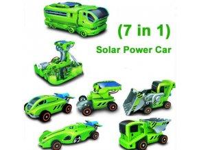 Autíčka na solární pohon 7v1