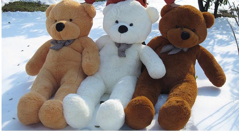 Velký plyšový medvěd 100 cm Barva: Hnědá