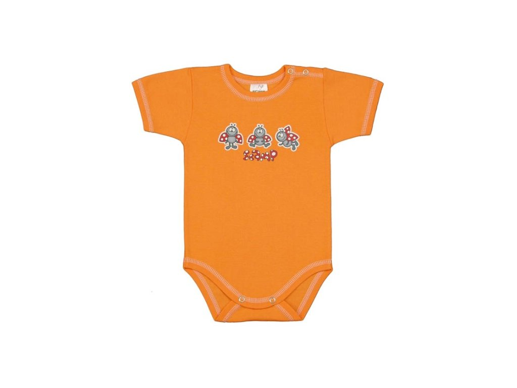 body s kratkym rukavem vesele berusky oranzove