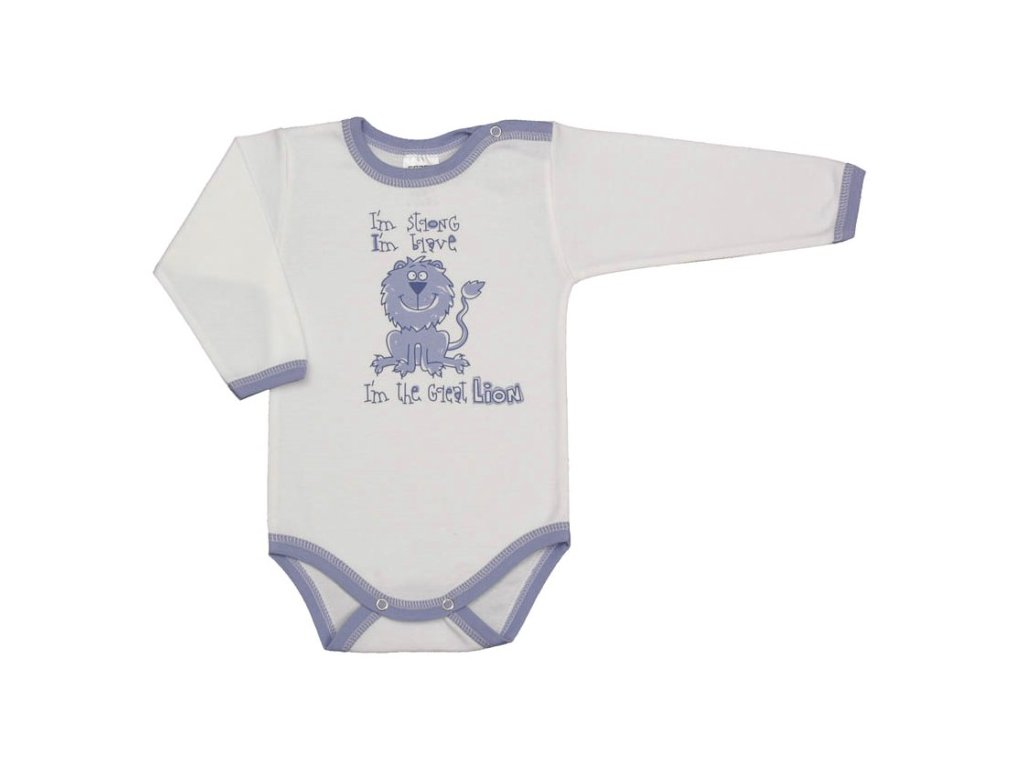 bodicko s dlouhym rukavem modrofialove lemovani lev