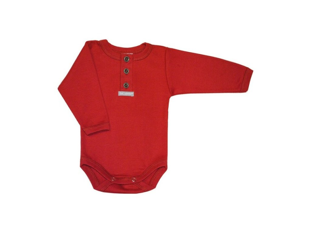 jednobarevne detske bodicko cervene