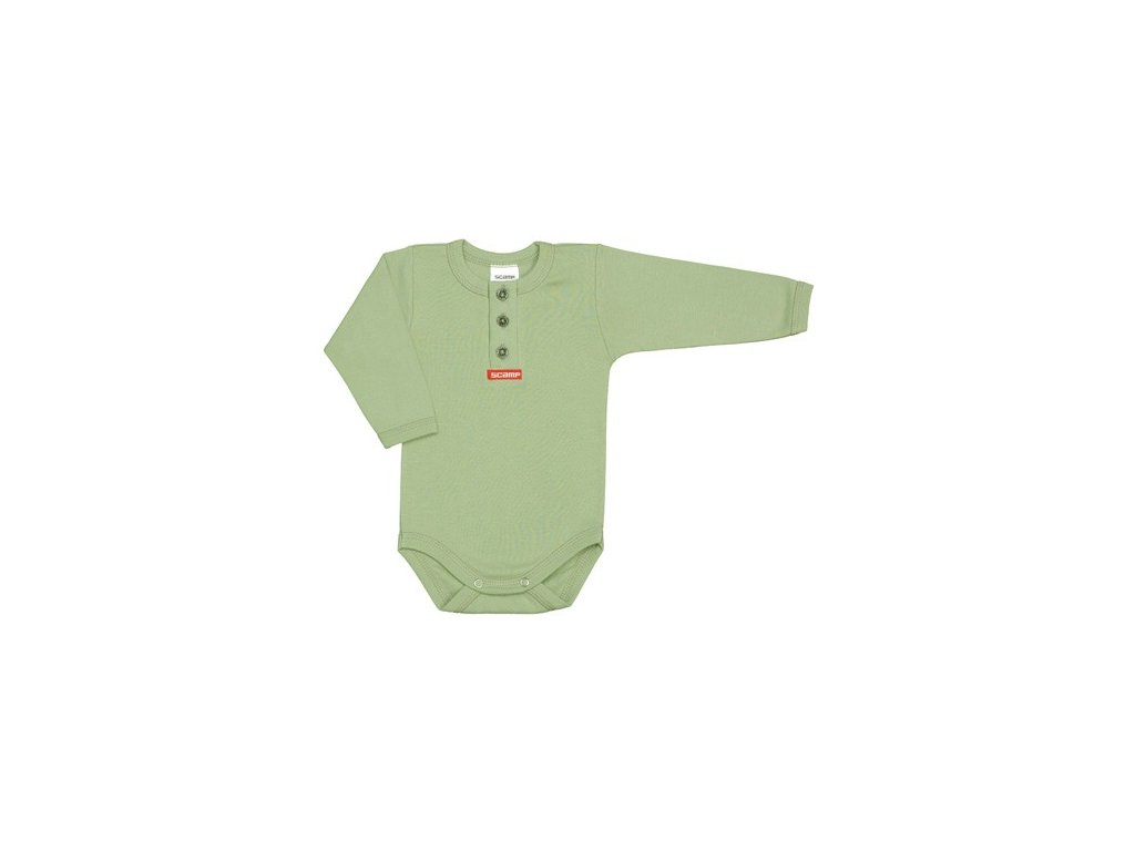 jednobarevne detske bodicko zelene