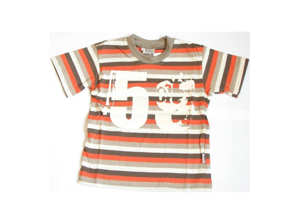 triko s kratkym rukavem oranzove hnede autex baby