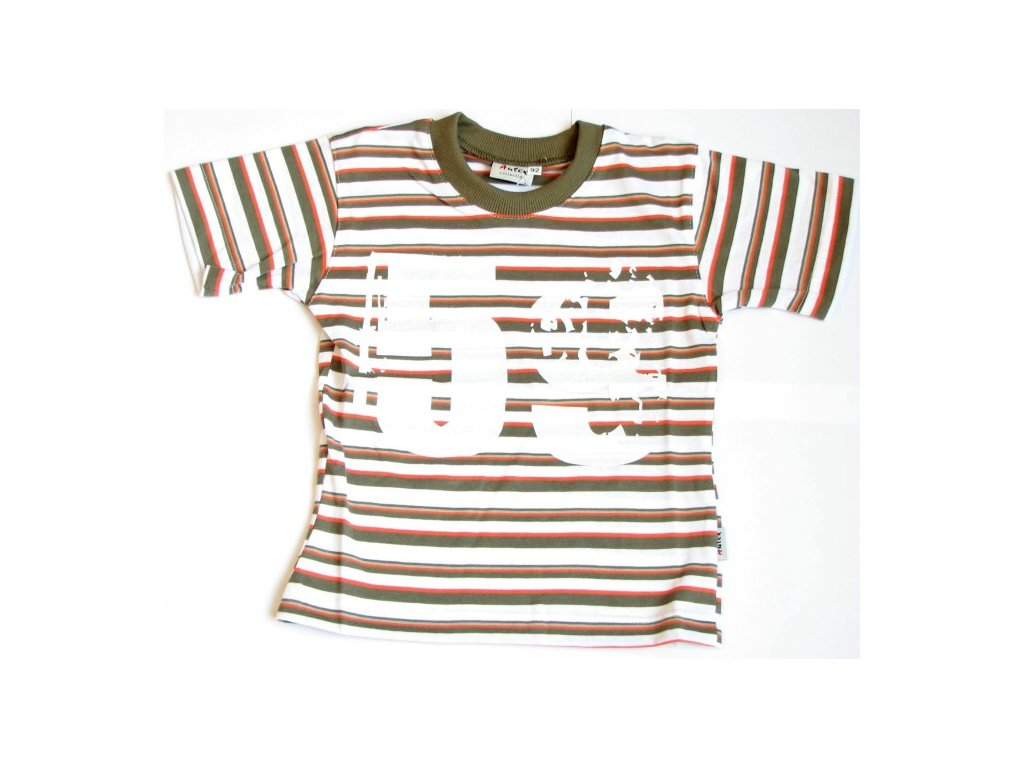 triko s kratkym rukavem khaki baby