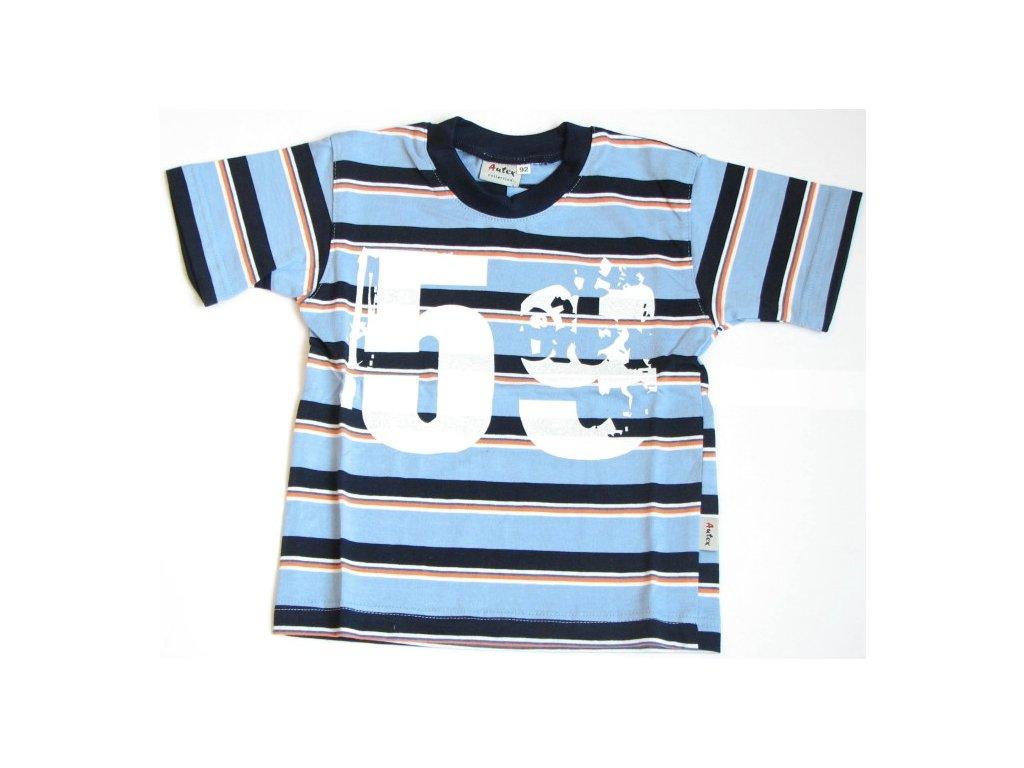 triko s kratkym rukavem modre baby