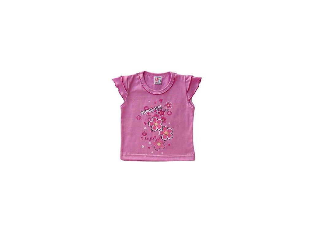 divci triko s volanky svetle fialove