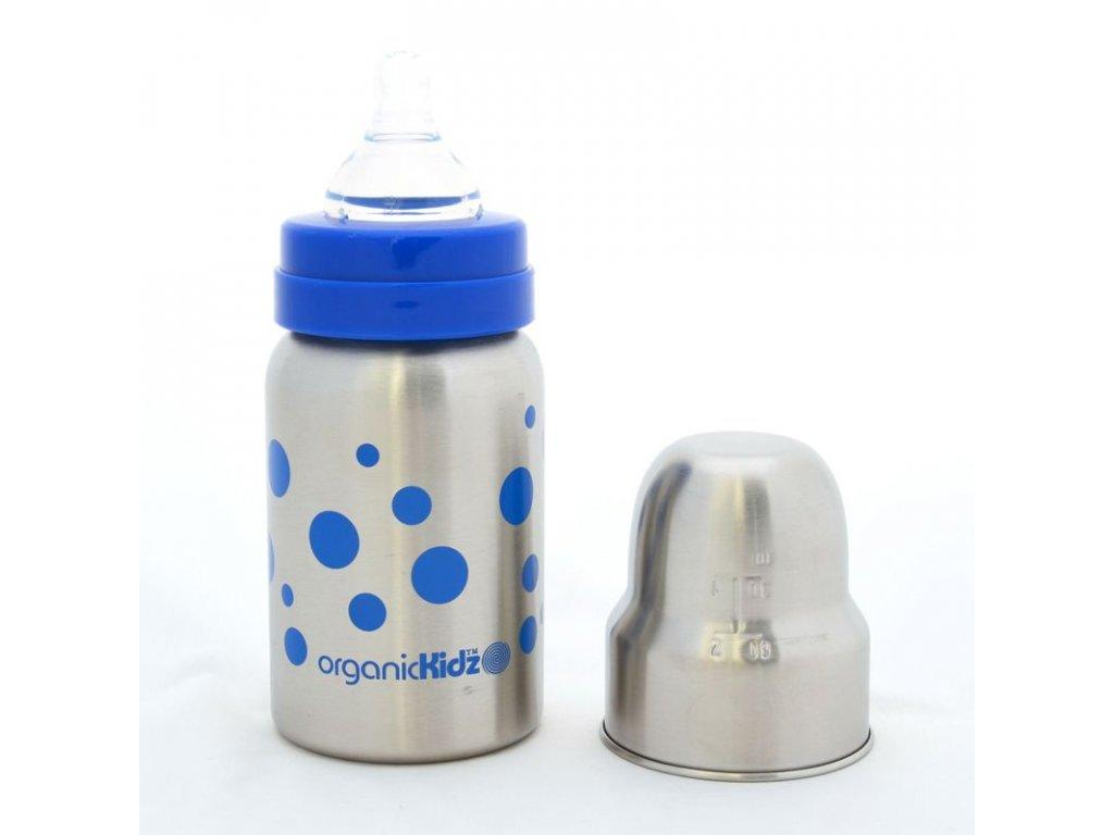 nerozbitna detska lahvicka 270 ml modra