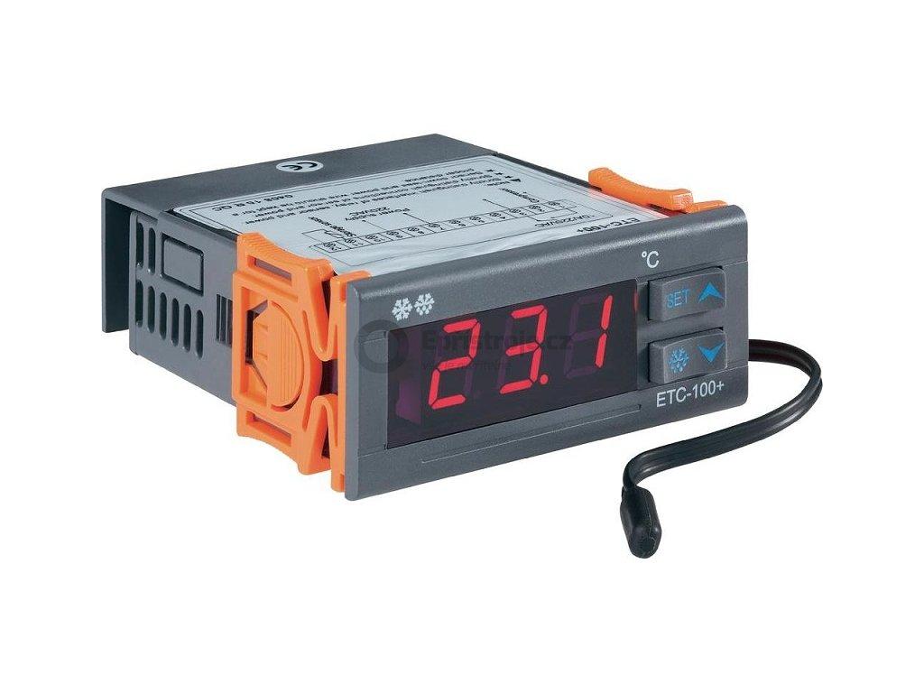 Panelový termostat Voltcraft ETC-100+ | 1 relé pro chlazení | od -40 do 120°C