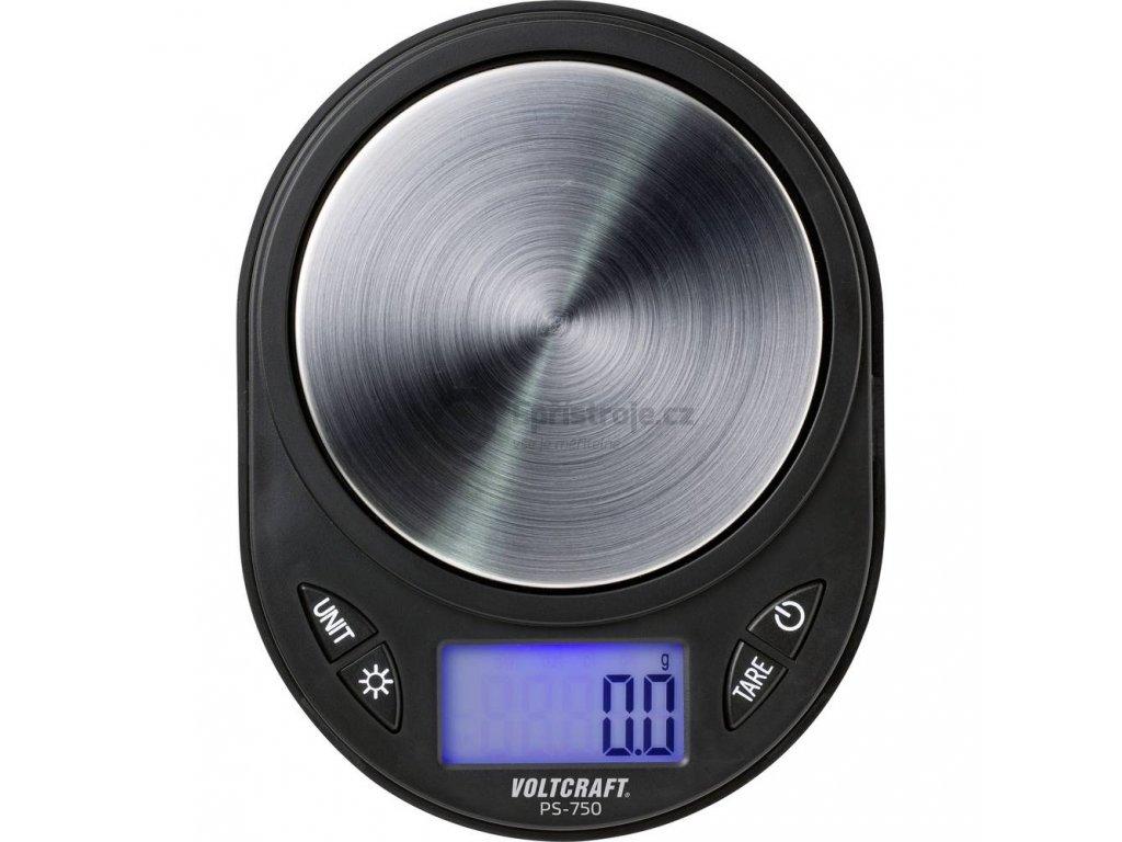 Kapesní váha VOLTCRAFT PS-750   max. váživost 750 g   rozlišení 0.1 g   černá