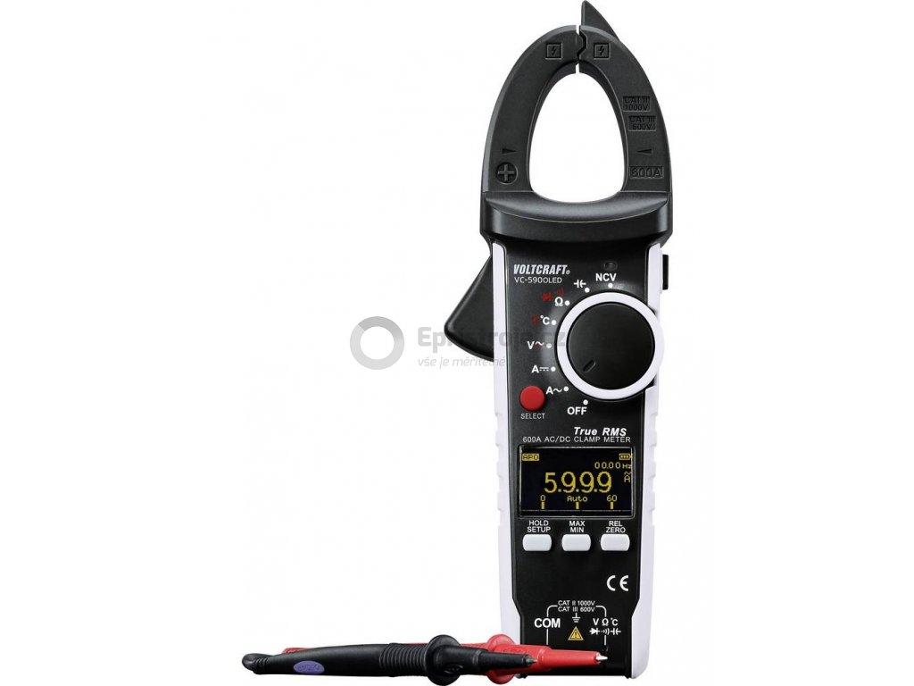 Digitální klešťový multimetr Voltcraft VC-590OLED - ampérmetr