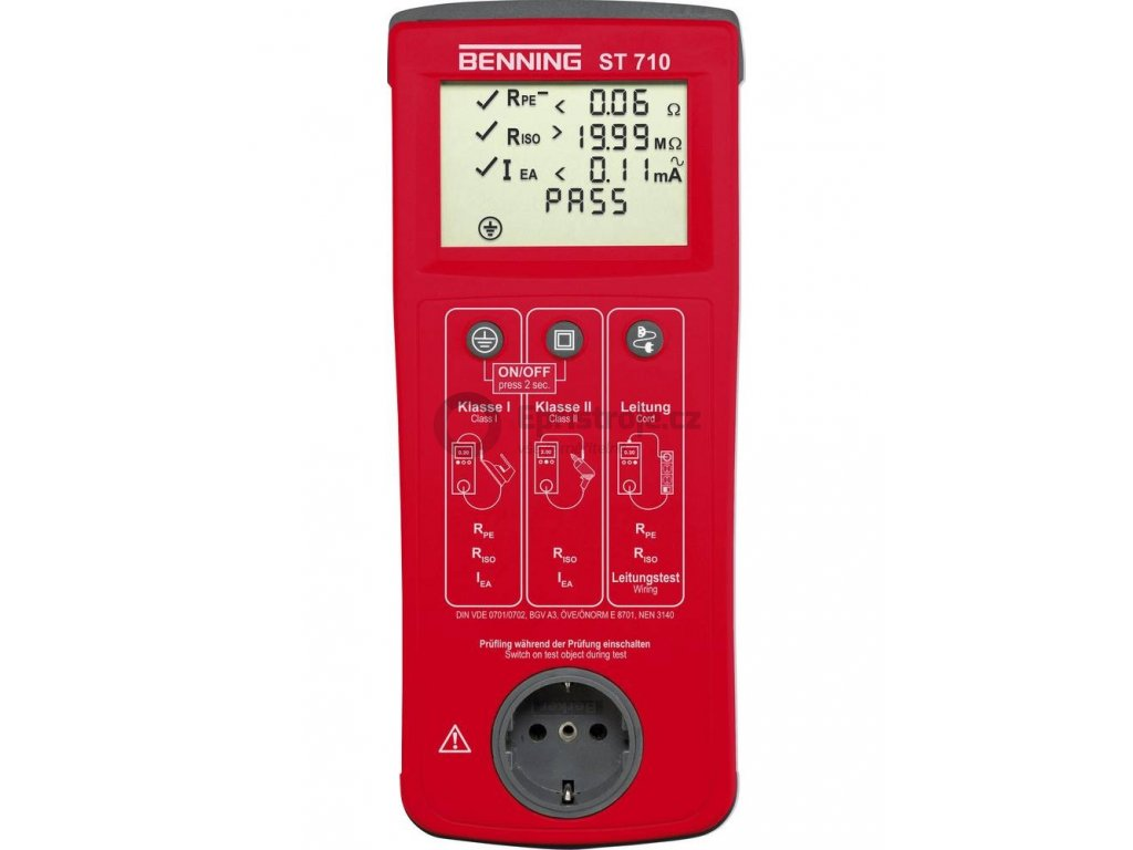 Zkoušečka Benning ST 710, VDE 0701/0702