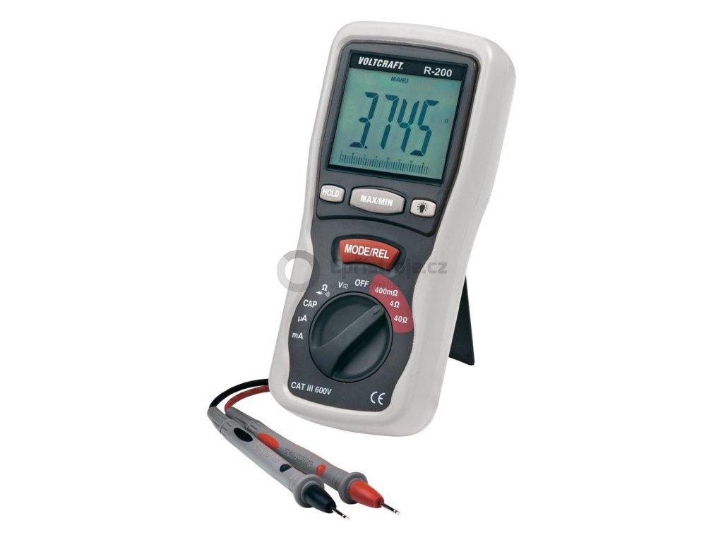 Digitální miliohmmetr R-200, měření odporu, kapacity