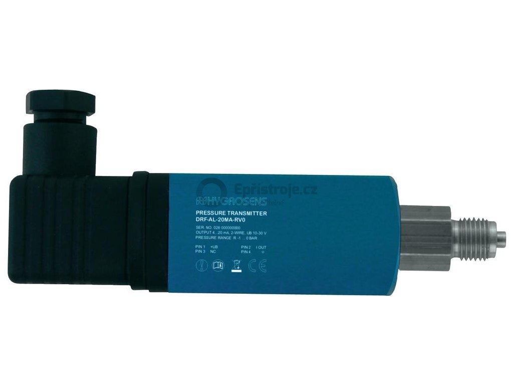 Tlakový převodník pro relativní tlak DRTR-AL-20MA-RV0, -1 až 0 bar, 4-20 mA