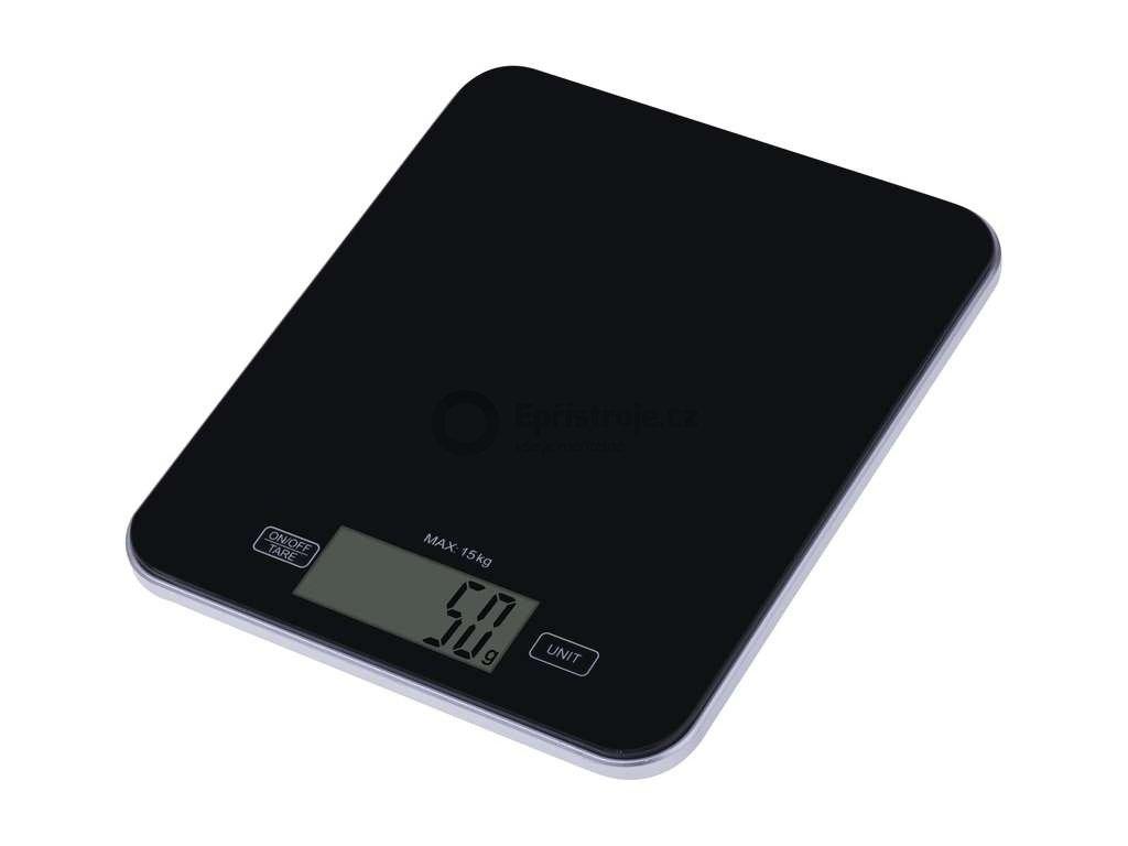 Digitální kuchyňská váha EMOS EV022   váživost do 15 kg/1g   černá