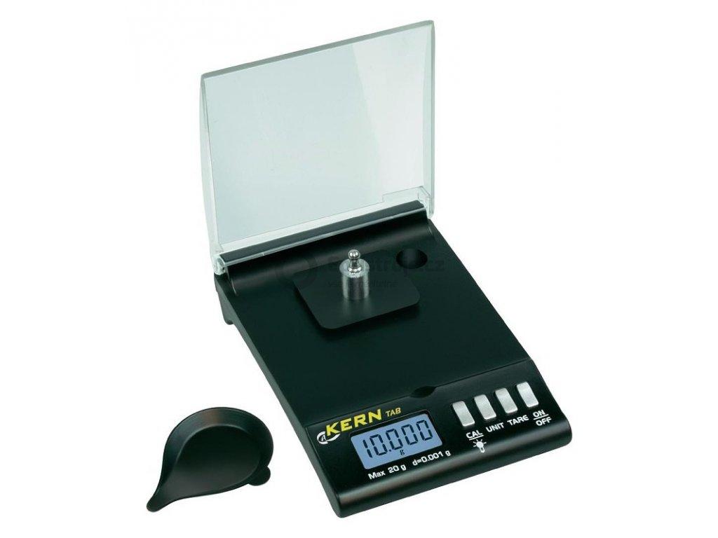 Kern TAB 20-3; značková vysoce přesná kapesní váha do 20 g 0,001 g