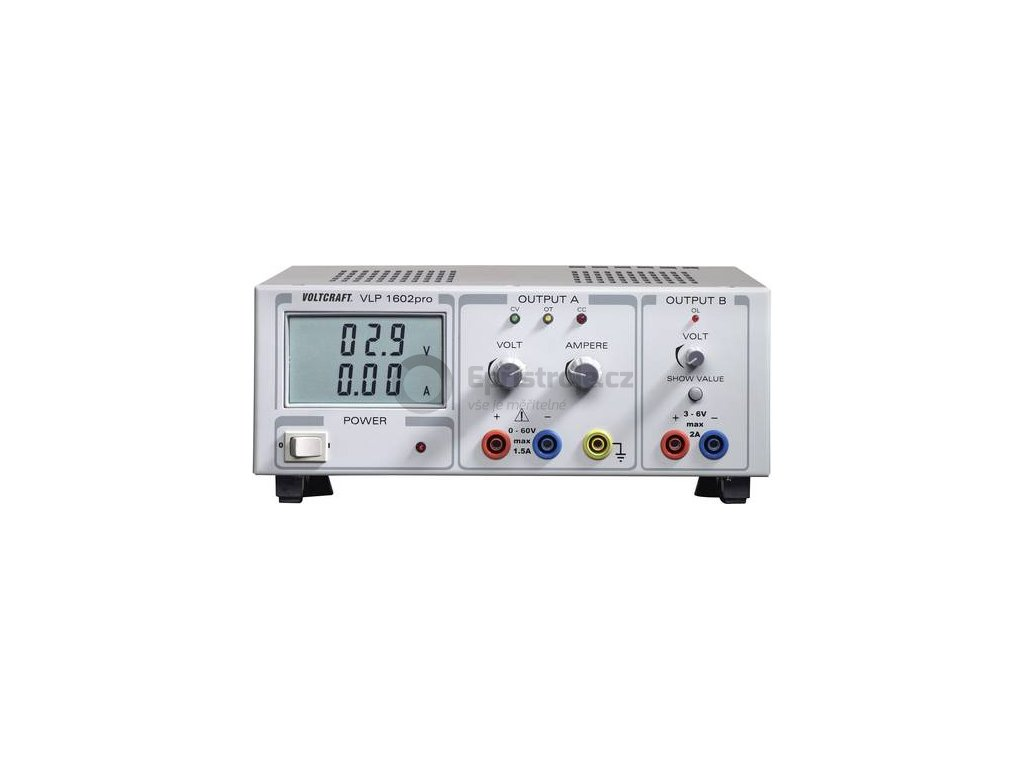 Lineární laboratorní sítový zdroj Voltcraft VLP-1602pro, 0 - 60 V, 0 - 2 A