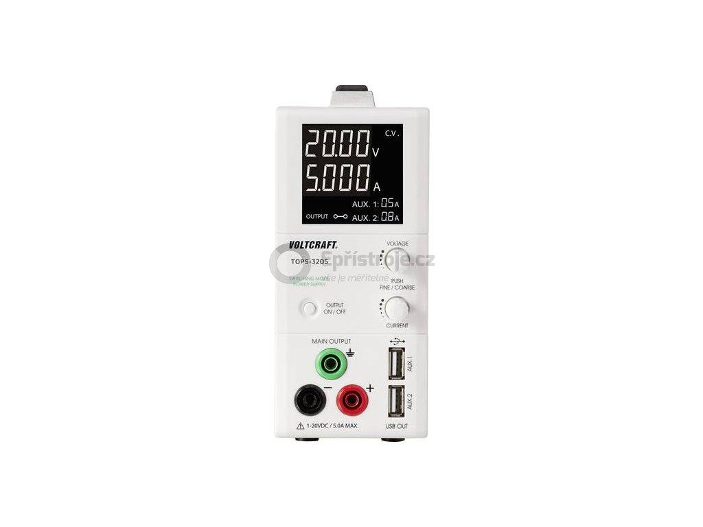 Laboratorní zdroj s nastavitelným napětím VOLTCRAFT TOPS-3205, 1 - 20 V/DC, 0.25 - 5 A, 100 W