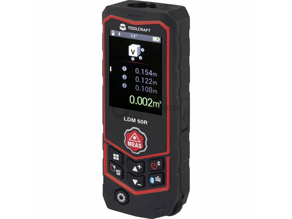 Laserový měřič vzdálenosti TOOLCRAFT LDM 60 R Multi | TO-4985214 | měření vzdálenosti až 60 m