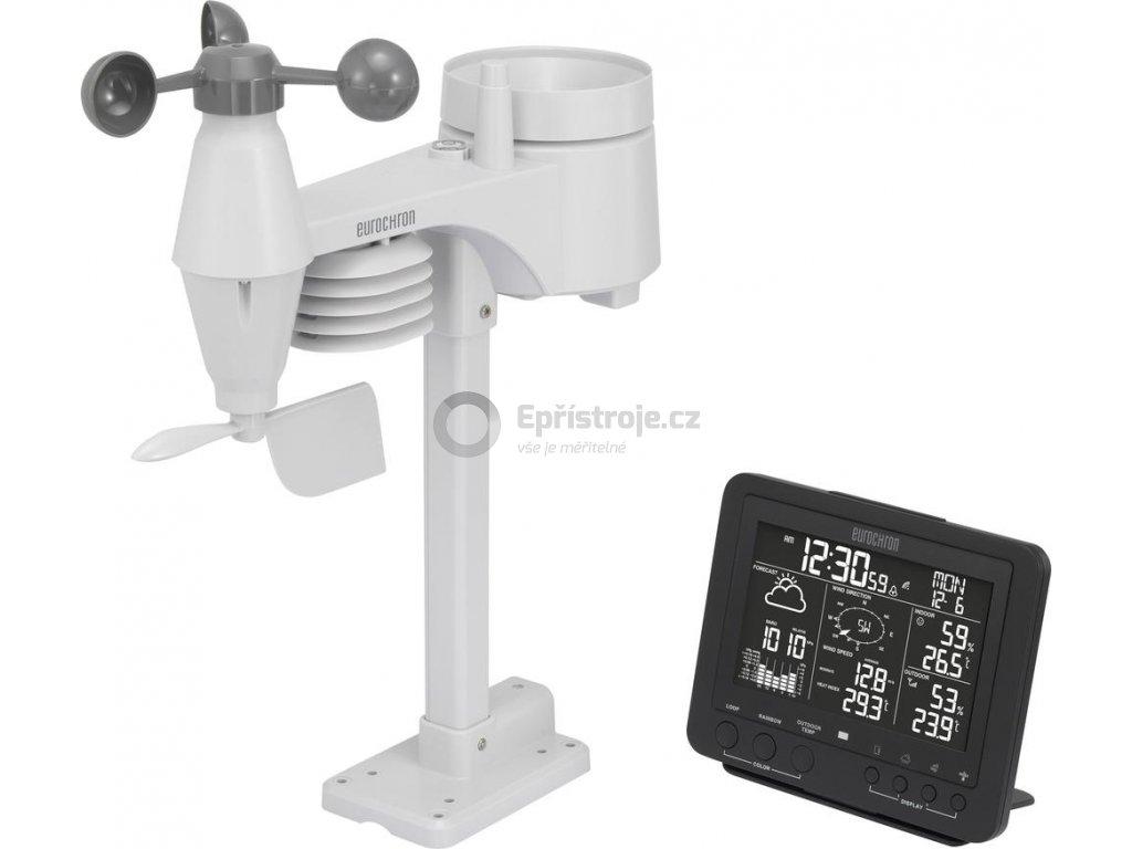 Digitální bezdrátová meteostanice Eurochron RC Pro | dosah až 150 m | černá