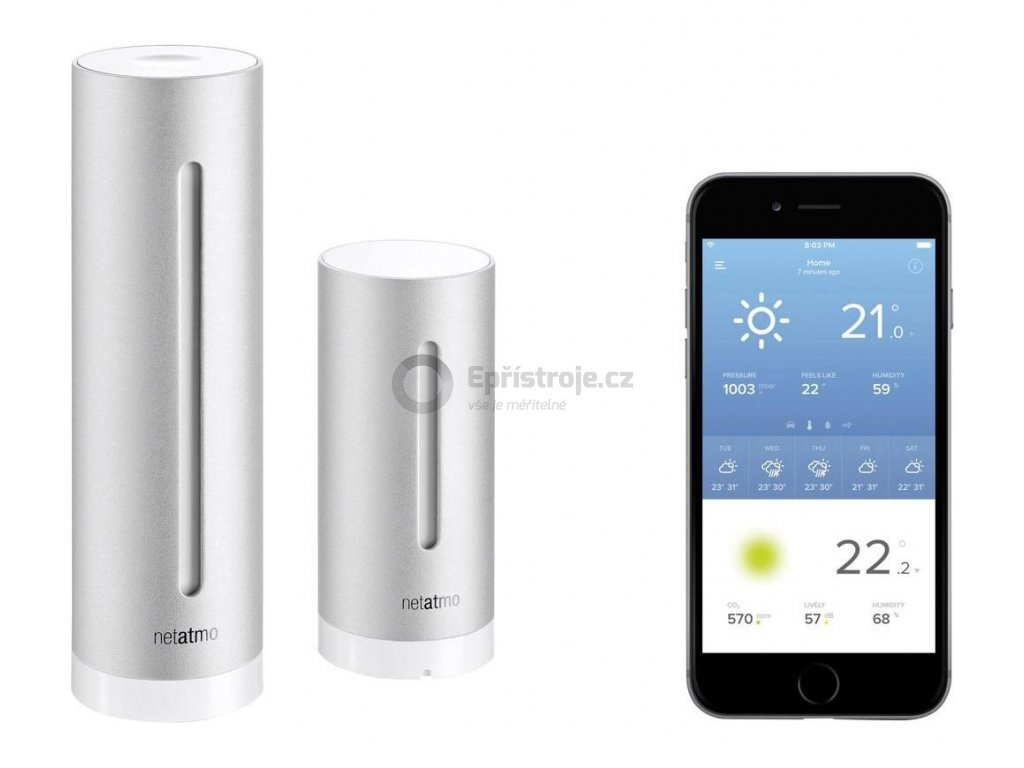 Meteostanice pro Android a Apple Netatmo NWS01, NE1001ZZ, 100 m, 868 MHz