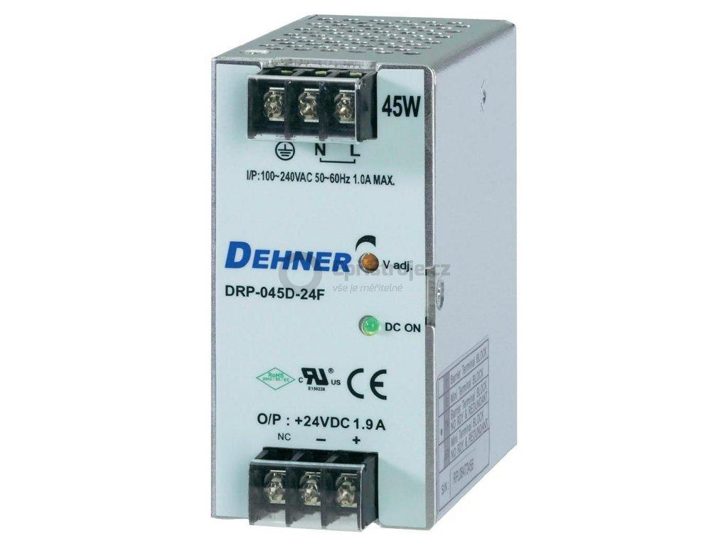 Spínaný síťový zdroj Dehner Elektronik DRP-045D-5F na DIN lištu, 5 V/DC, 9 A