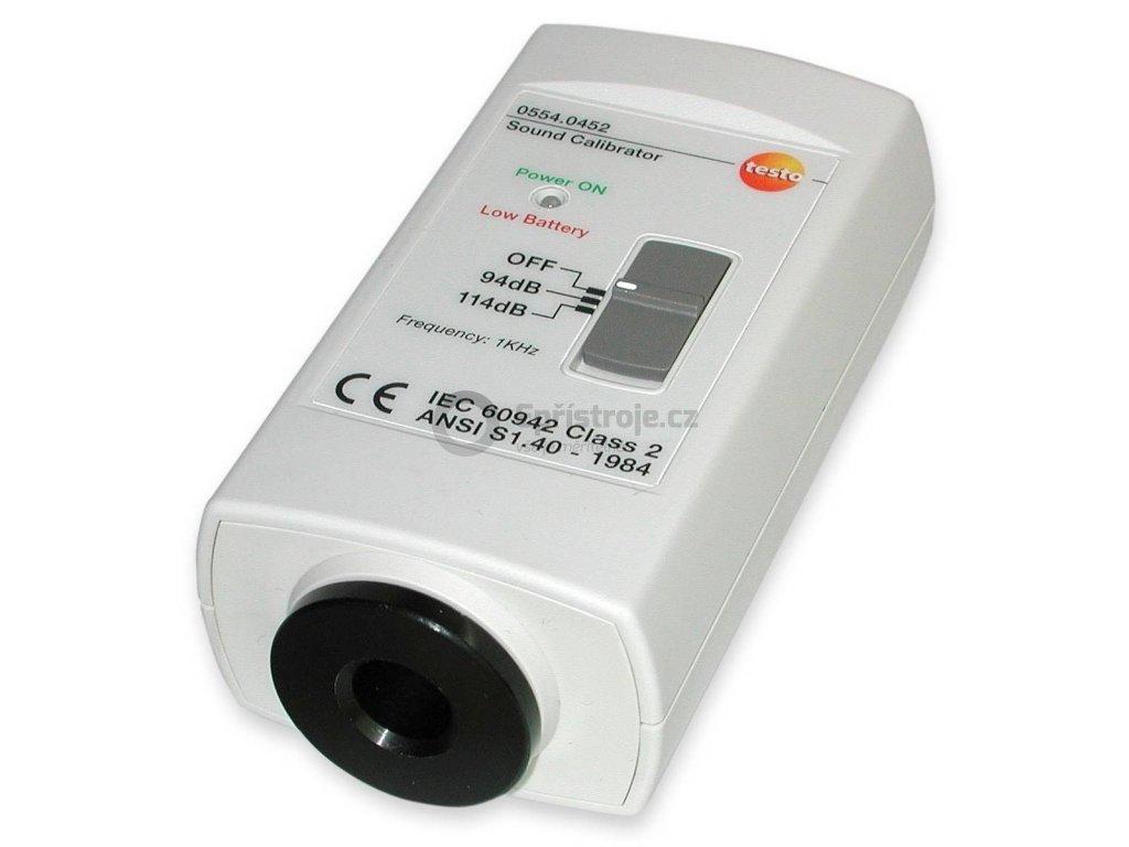 Kalibrátor hlukoměrů s 1 a 1/2 mikrofonem | testo 0554 0452