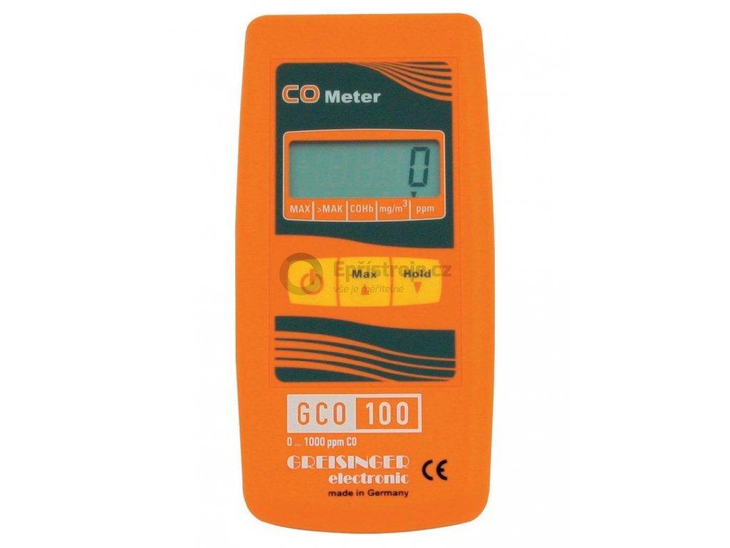 Měřicí přístroj koncentrace oxidu uhelnatého CO Greisinger GCO 100