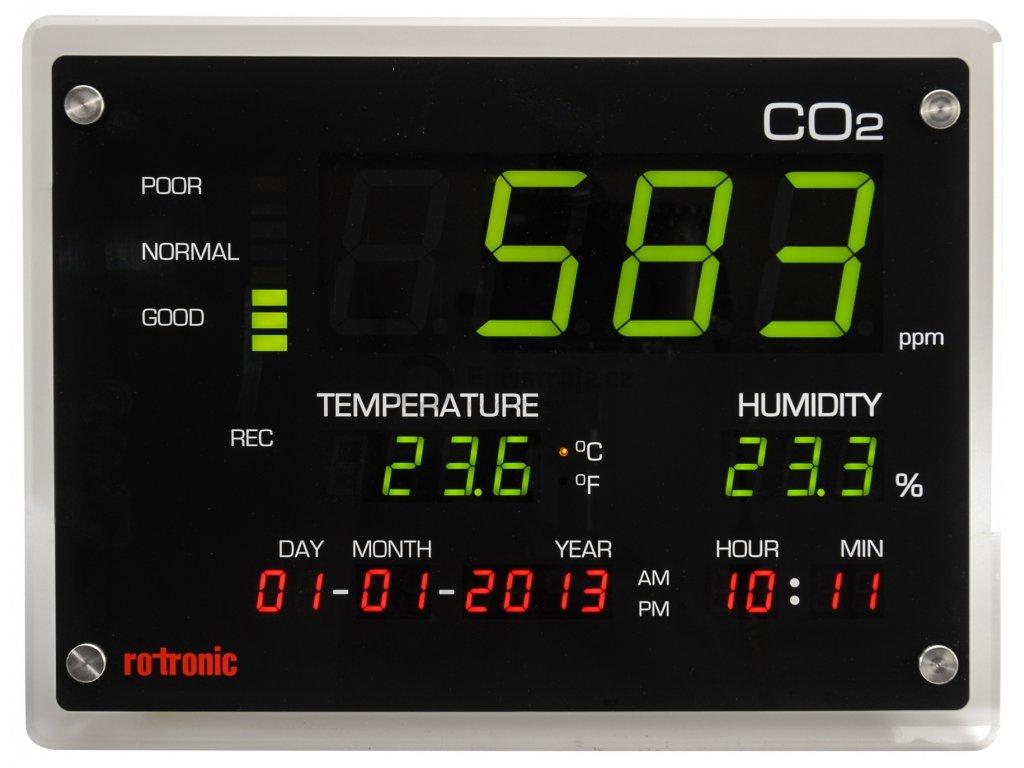 Měřič oxidu uhličitého (CO2) rotronic CO2-Display, 0 - 5000 ppm