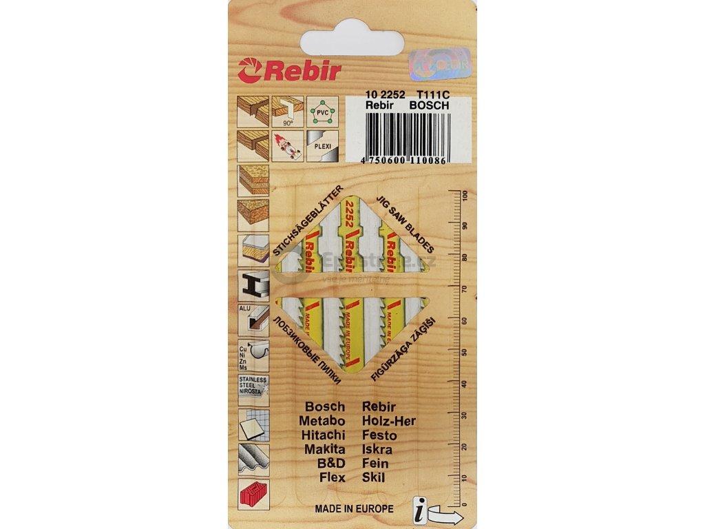 Pilové plátky do přímočarých pil | na dřevo | 75 mm | 5 kusů | 102252