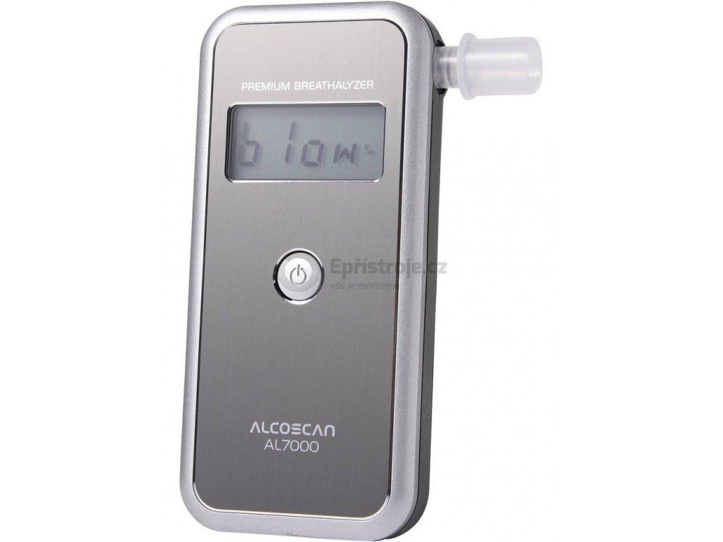 Alkohol tester - AL 7000®, měřicí rozsah alkoholu (max.)=4 ‰, stříbrný