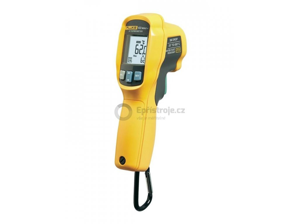 Infračervený teploměr FLUKE-62 MAX PLUS, -30 až +650 °C, optika 12:1, krytí IP54