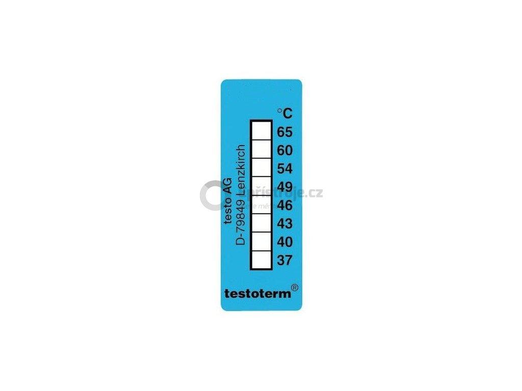 Nevratný teplotní indikátor +37 až +65 C - nalepovací