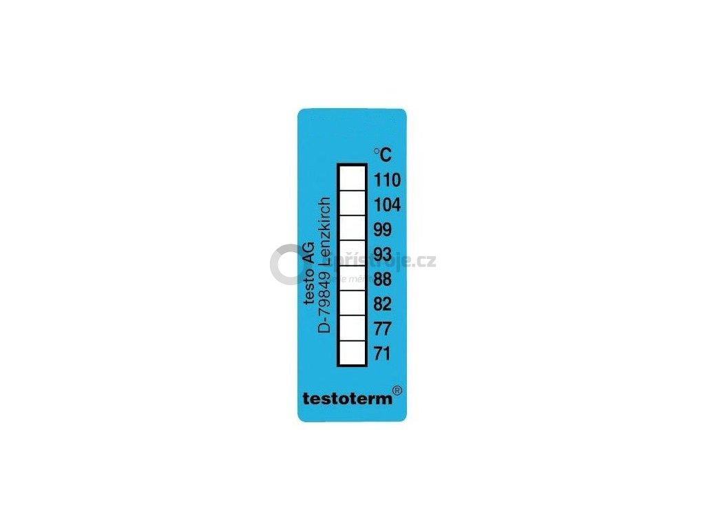 Nevratný teplotní indikátor +71 až +110 C - nalepovací