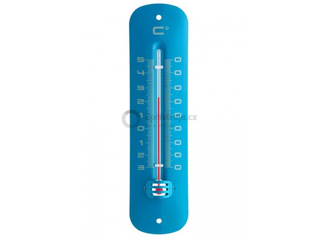 Kapalinový IN/OUT teploměr TFA 12.2051.06 - modrý, kovový