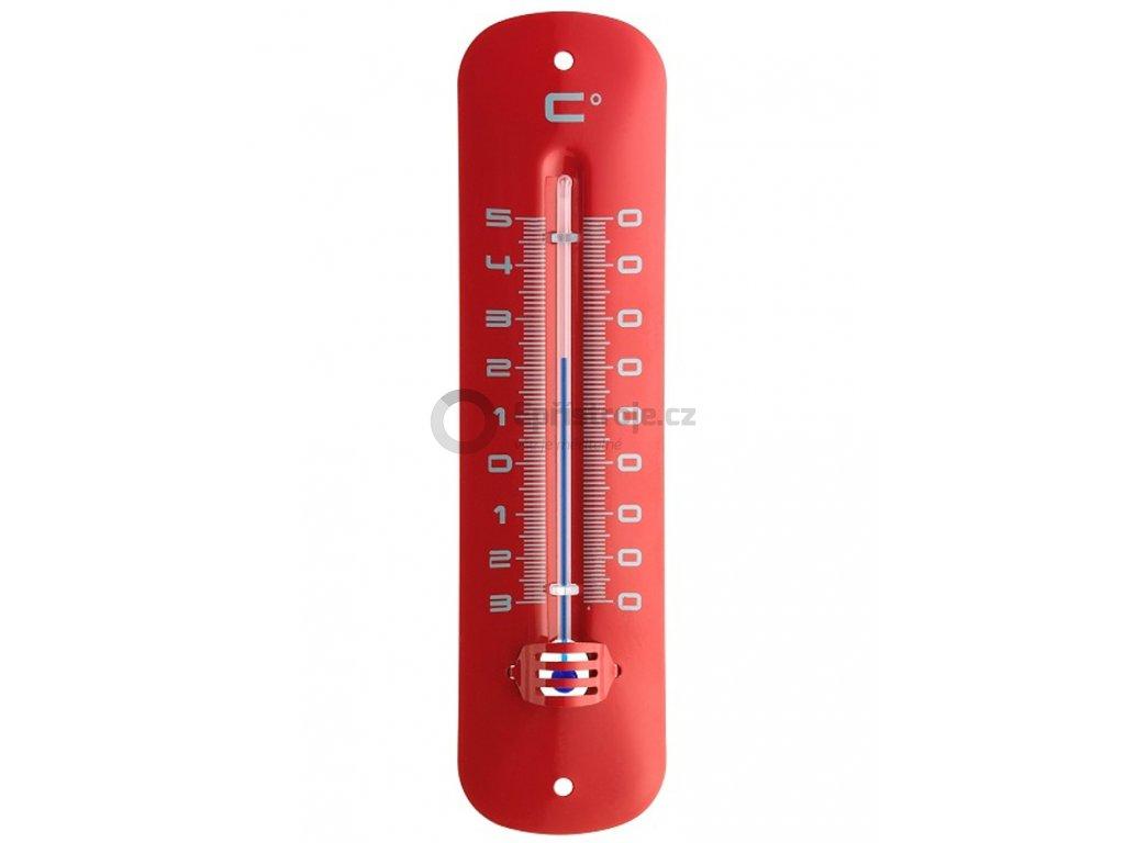 Kapalinový IN/OUT teploměr TFA 12.2051.05 - červený, kovový
