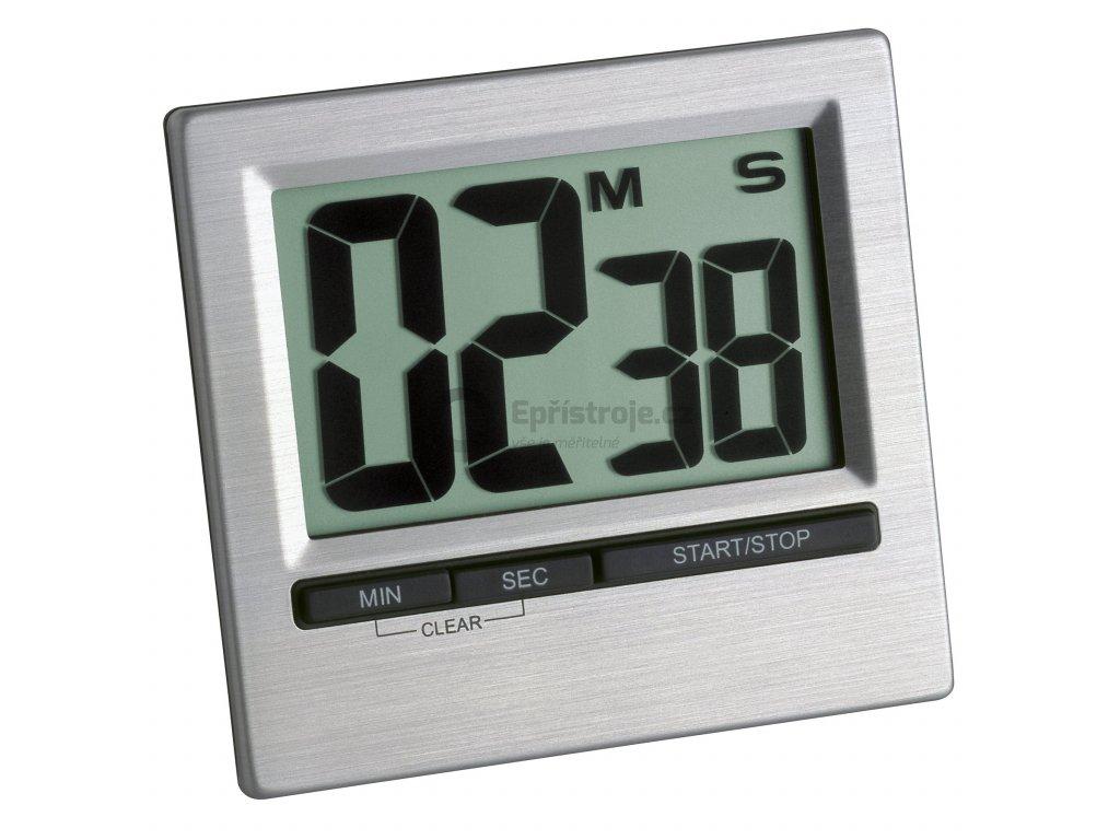 Digitální časovač - timer s magnetem TFA 38.2013.54, stříbrná