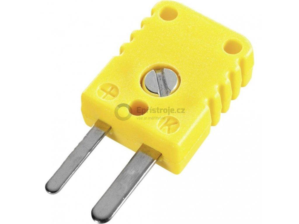 """Miniaturní termočlánkový konektor """"K"""" NST1200; zástrčka;  žlutá"""