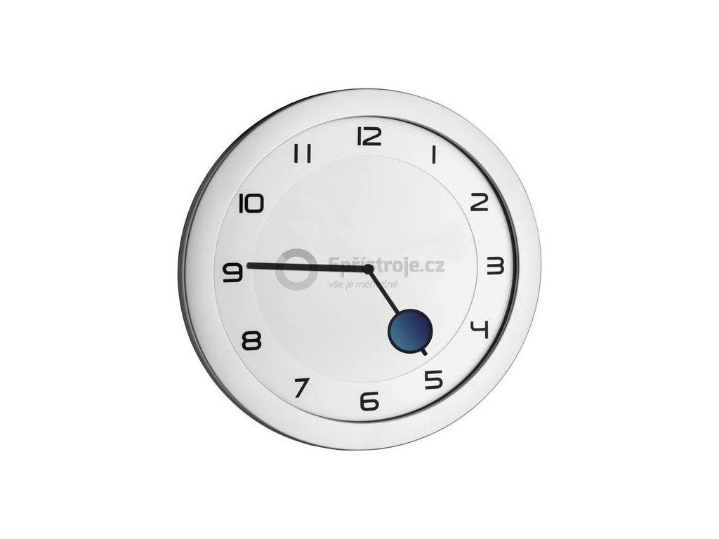 Quartz nástěnné hodiny TFA 60.3028.54, Ø 28 cm, kovová stříbrná
