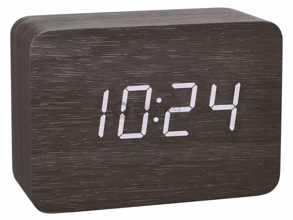 Digitální budík DCF v dřevěném designu TFA 60.2549.01 CLOCCO - černý