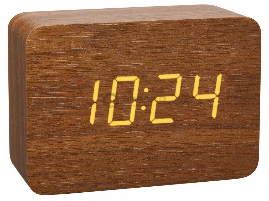Digitální budík DCF v dřevěném designu TFA 60.2549.08 CLOCCO - hnědý