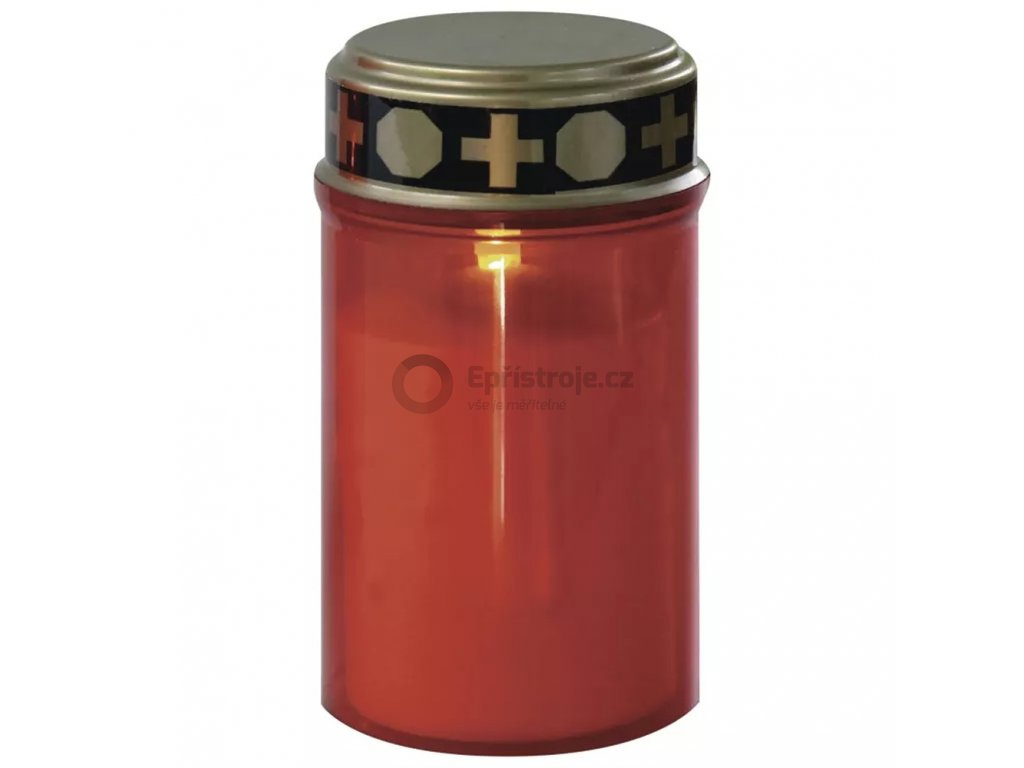LED hřbitovní svíčka se světelným senzorem | na 2× C | červená LED | ZY2372