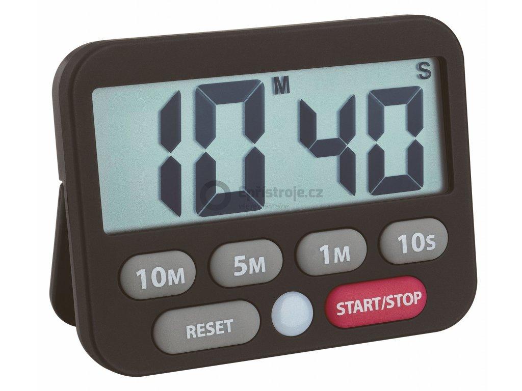 Digitální časovač a stopky TFA 38.2038.01, ČERNÁ