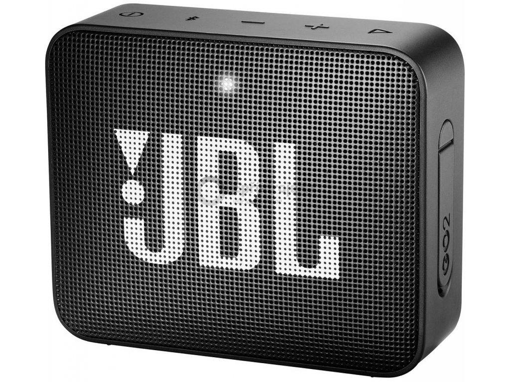 Bluetooth® reproduktor JBL Go2 AUX, hlasitý odposlech, outdoor, vodotěsný, černá