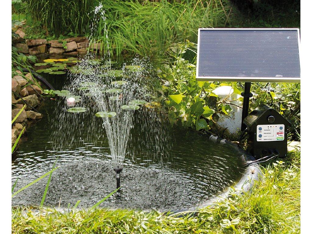 Solární zahradní fontána s akumulátorem a LED osvětlením; T.I.P. SPS250/6; 250 l/h; 1,2 m
